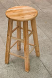 Wooden high chair Royalty Free Stock Photos