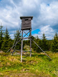 Wooden high seat for hunters Stock Images