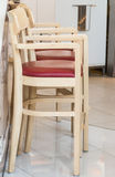 Wooden high stool Stock Photography