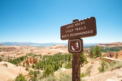 Wooden Hiking Sign Royalty Free Stock Images