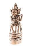 Wooden hindu god statuette Stock Image