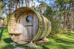 Wooden holiday home with sauna Stock Images