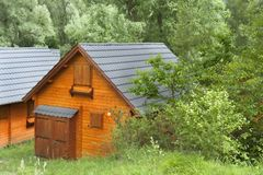 Wooden holiday houses Royalty Free Stock Photo