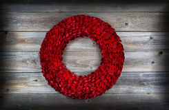 Wooden Holiday Wreath with vignette Royalty Free Stock Photos