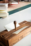Wooden Holing Machine On Table Stock Images