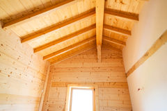 Wooden home construction stock photography