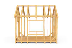 Wooden Home Construction Stock Photo