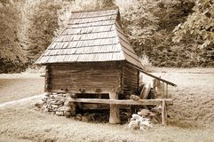 Wooden home in country Royalty Free Stock Photography