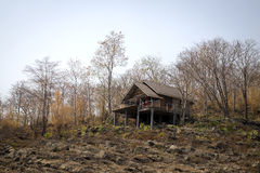 Wooden home decaying abandoned Royalty Free Stock Photo
