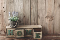 Wooden home decor Stock Image