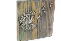 String art. Handwork. Flower stock images