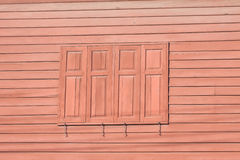 Wooden home and window Royalty Free Stock Image