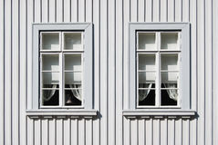 Wooden Home Windows Royalty Free Stock Image
