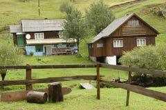 Wooden homes, Apuseni Mountains, Romania royalty free stock photo