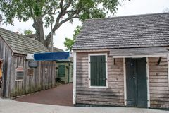 Wooden homes of St Augustine, Florida.  stock photo