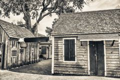 Wooden homes of St Augustine, Florida.  royalty free stock image