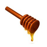 Wooden honey dipper Royalty Free Stock Photos