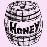 Wooden Honey pot Royalty Free Stock Photos