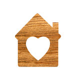 Wooden hoose icon isolated on white. Background stock photos