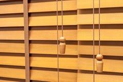 Wooden horizontal jalousie Stock Image