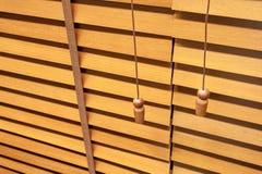 Wooden horizontal jalousie Stock Images