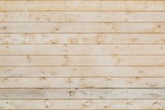 Wooden horizontal unpainted boards as background or backdrop.  Royalty Free Stock Photography