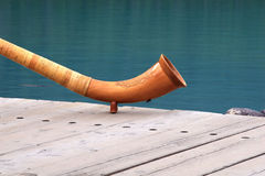 Wooden horn Stock Photography