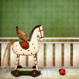 Wooden Horse royalty free illustration