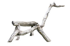 Wooden Horse, Bench shaped like a horse at park outdoor. made by timber. Royalty Free Stock Images