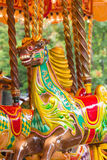 Wooden horse on a carousel Stock Image