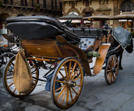 Wooden horse carriage Stock Images