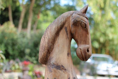Wooden horse Stock Images