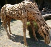 Wooden horse handicraft. Bali handicraft wooden horse Celuk royalty free stock photos