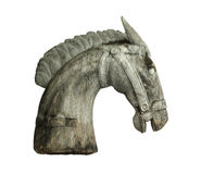 Wooden horse head Stock Images