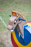 Wooden horse swing Royalty Free Stock Photography