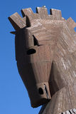 Wooden horse, Troy, Turkey. Replica of the famous wooden horse mentioned by Homer in Iliad Stock Photos