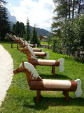 Wooden horses for childs in Vallongia Royalty Free Stock Images