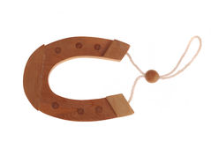 Wooden horseshoe Royalty Free Stock Images