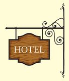 Wooden hotel door sign Royalty Free Stock Photography