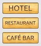 Wooden hotel door sign Royalty Free Stock Photo