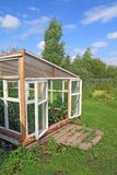 Wooden hothouse Stock Photo