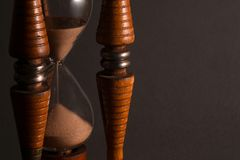 Wooden Hourglass royalty free stock photo