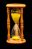 Wooden hourglass isolated Royalty Free Stock Images
