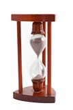 Wooden hourglass over white Royalty Free Stock Photography