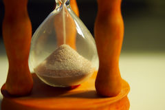 Wooden hourglass Royalty Free Stock Images