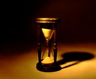 Wooden hourglass sepia Royalty Free Stock Photography