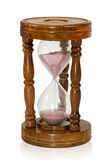 Wooden hourglass Royalty Free Stock Image