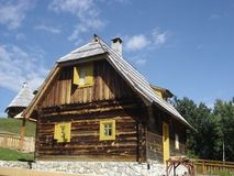 Wooden house. In west Serbia royalty free stock image