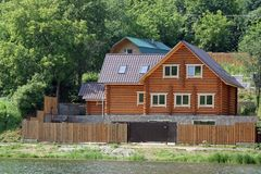 The wooden house Stock Photography