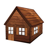 Wooden house stock illustration